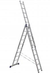 Лестница 3-секционная 282х476х646см алюминиевая