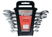 Набор ключей рожковых 6-22мм MATRIX хромированные (8 предметов)