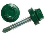 Саморез кровельный зеленый 4,8х35 (250шт) RAL 6005