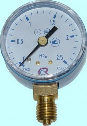 Манометр кислородный ПТК 2,5 МПа