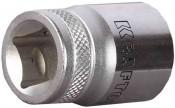 Головка торцовая KRAFTOOL ''INDUSTRIE QUALITAT'' SUPER-LOCK 22 мм (квадрат 1/2'') хромосатинированная Cr-V