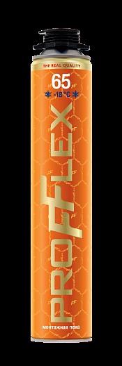 Пена монтажная PROFFLEX PRO 65л-Голд 850мл(930гр) зима (12шт)