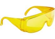 Очки защитные желтые открытого типа, ударопрочный поликарбонат  СИБРТЕХ