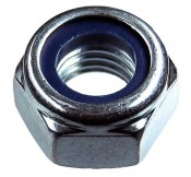 Гайка шестигранная М 6 со стопорным кольцом DIN 985 (1000шт) (2,4кг)
