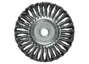 Щетка-крацовка дисковая стальная плетеная MATRIX 125х22мм проволока 0,5мм
