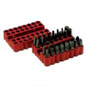 Набор SANTOOL универсальных бит + магнитный адаптер (33 предмета в резиновом боксе)