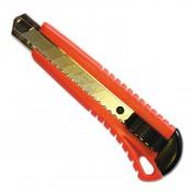 Нож c выдвижным сегментированным лезвием 18 мм SANTOOL металлическая направляющая
