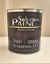 Грунт-эмаль 3 в1 черная ''Paint Solutionc'' (1,9 кг)