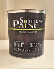 Грунт-эмаль 3 в1 красно-коричневая ''Paint Solutionc'' (1,9 кг)