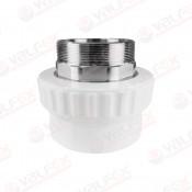Муфта PP-R комбинированн белый Дн40х1 1/4'' НР VALFEX под ключ (25/5)