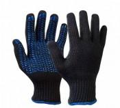 Перчатки с ПВХ 6Н Протектор Люкс класс 10 размер 24 (10) черные