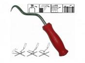 Крюк для вязки арматуры 210 мм деревянная рукоятка СИБРТЕХ