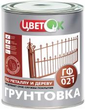 Грунт ГФ-021 красно- коричневый ЦветОк (1,9кг)